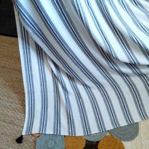 Jeté de canapé coton à rayures 150*150 cm