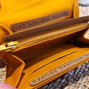 Petit compagnon cuir vachette porte monnaie et papiers – JL Fourès