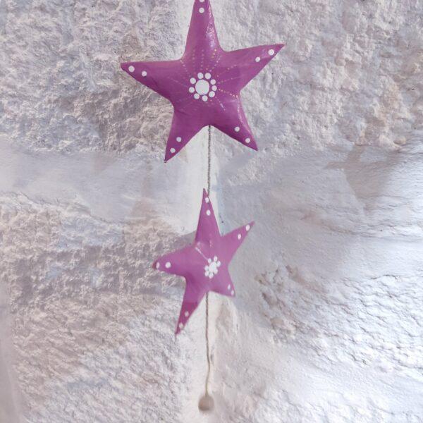 guirlande étoiles papier mâché