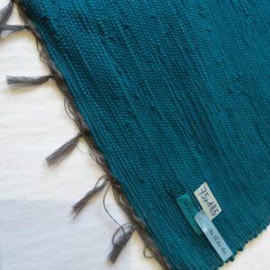 Lirette coton 1,75 cm vert canard