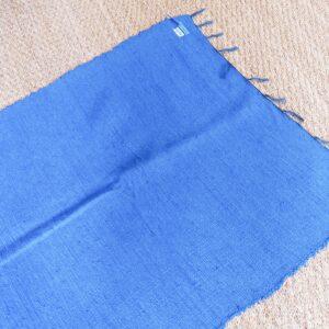 Lirette coton 1,75 cm bleu
