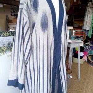 Kimono réversible damassé de coton
