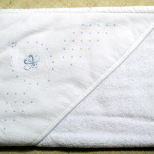 Cape ou carré de bain Arabesque brodée main