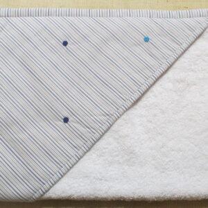 Cape ou carré de bain ricoco bleus