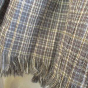 Echarpe homme coton écossais gris