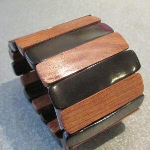 Manchette corne bois de palissandre
