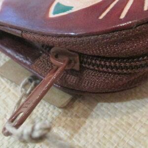 Porte monnaie cuir chat