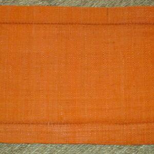 sets de table *6, raphia orange avec Jour de Venise