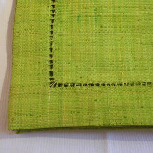 sets de table *6, raphia vert anis avec Jour de Venise