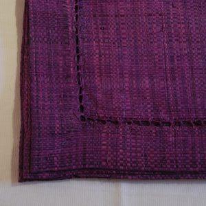 sets de table *6, raphia violet avec Jour de Venise